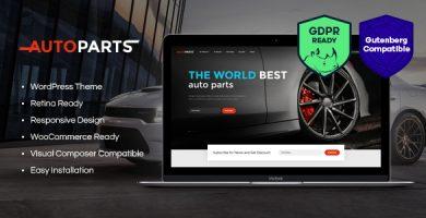قالب Car Parts Store & Auto Services - قالب وردپرس