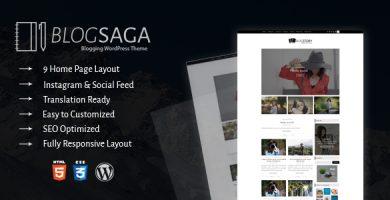 قالب BlogSaga - قالب وبلاگ وردپرس