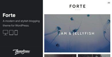 قالب Forte - قالب وردپرس نویسندگان
