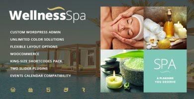 قالب Wellness SPA - پوسته وردپرس سالن زیبایی و اسپا