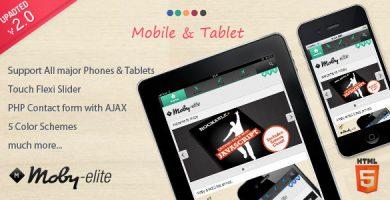 قالب Moby Elite - قالب وردپرس موبایلی