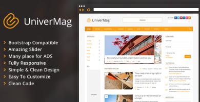 قالب UniverMag - قالب خبری و مجله وردپرس