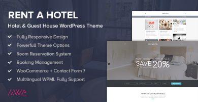 قالب Rent a Hotel - قالب وردپرس هتل و مهمانخانه