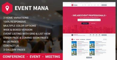 قالب Event Management - قالب وردپرس
