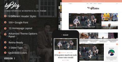 قالب Byblog - قالب وبلاگ وردپرس ریسپانسیو
