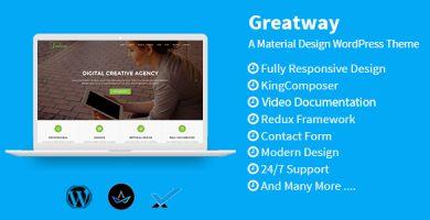 قالب Greatway - قالب وردپرس متریال دیزاین