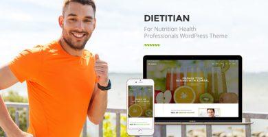 قالب Dietitian - قالب وردپرس سایت سلامت تغذیه