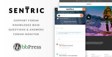قالب Sentric - قالب وردپرس انجمن پشتیبانی و پایگاه دانش