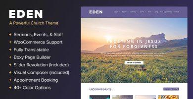 قالب Eden - قالب وردپرس برای کلیسا