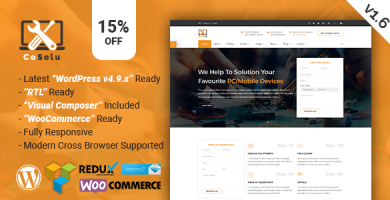 قالب CoSolu - قالب سایت سرویس و تعمیرات