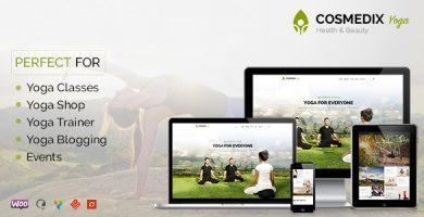 قالب Cosmedix - قالب وردپرس سلامتی و زیبایی و یوگا