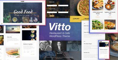 قالب Vitto - قالب وردپرس رستوران و کافه