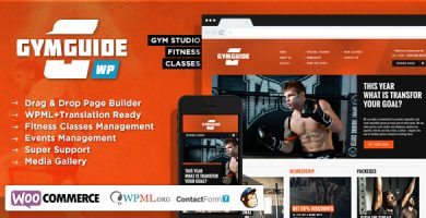 قالب Gym Guide - قالب وردپرس ورزش و تناسب اندام