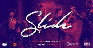 Slide - قالب وردپرس موسیقی