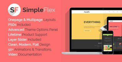 قالب SimpleFlex - قالب وردپرس تک صفحه ای