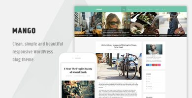 قالب Mango - قالب وردپرس وبلاگی