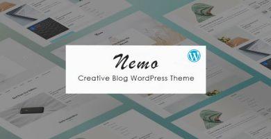 قالب Nemo - قالب وبلاگی خلاقانه وردپرس