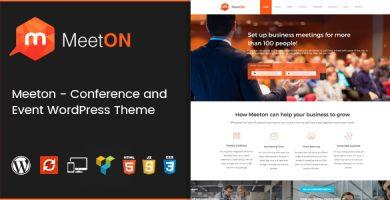 قالب Meeton - قالب وردپرس کنفرانس و رویداد