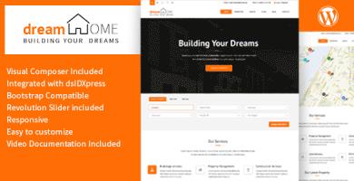 قالب Dream Home - قالب وردپرس املاک