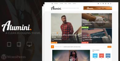 قالب Alumini - قالب وردپرس بلاگ و مجله