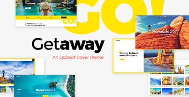 قالب Getaway - قالب وردپرس سایت مسافرت و گردشگری