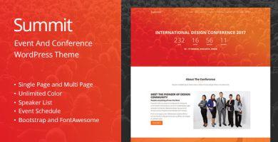 قالب Summit - قالب وردپرس رویداد و کنفرانس