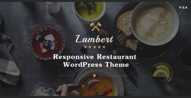 قالب Lambert - پوسته وردپرس رستوران و کافه