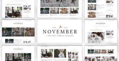 November - قالب وردپرس وبلاگی