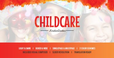 قالب Child Care - پوسته وردپرس کودکان و مهد کودک