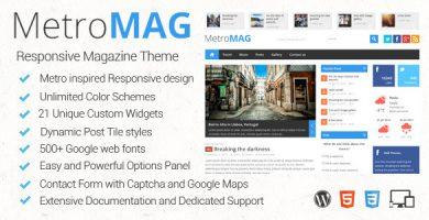 قالب Metro - قالب وردپرس مجله ای