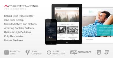 Aperture - قالب وردپرس کسب و کار و شرکت