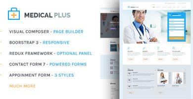 قالب Health Plus - قالب سایت سلامتی و پزشکی