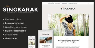 قالب Singkarak - قالب وبلاگ وردپرس ریسپانسیو
