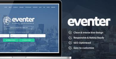 قالب Eventer - قالب وردپرس رویداد و کنفرانس
