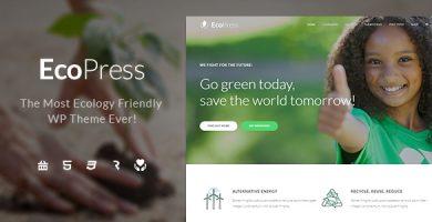 قالب Eco Press - قالب وردپرس طبیعت، محیط زیست و سازمان های غیر دولتی