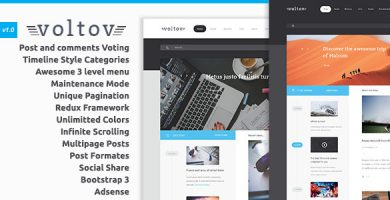 قالب Voltov - قالب وردپرس وبلاگ و مجله