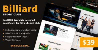 Billiard - قالب وردپرس ورزشی خلاق