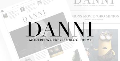 قالب Danni - قالب وردپرس بلاگی