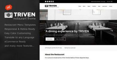 قالب Triven - قالب وردپرس رستوران و نوشیدنی