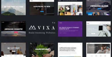 Vixa - قالب وردپرس چند منظوره خلاقانه