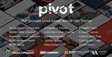 Pivot - قالب وردپرس چند منظوره ریسپانسیو