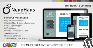 WP Neuehaus - قالب وردپرس خلاقانه