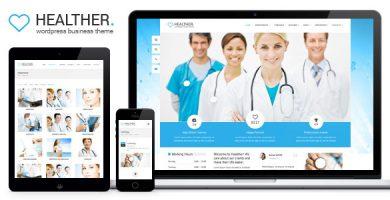قالب Healther - قالب وردپرس پزشکی و سلامتی