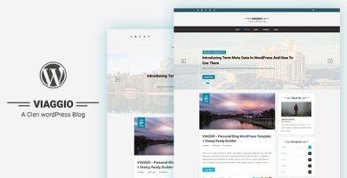 قالب Viaggio - قالب وبلاگ وردپرس شخصی