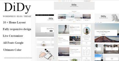 قالب DiDy - قالب چند منظوره وبلاگ برای وردپرس