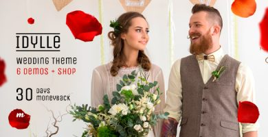 قالب Idylle Wedding - قالب عروسی