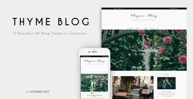 قالب Thyme - قالب وردپرس فروشگاه و وبلاگ