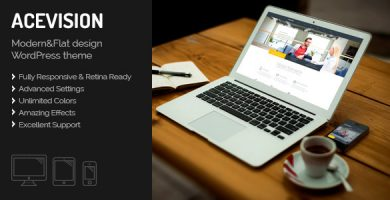 Acevision - قالب تک صفحه ای ریسپانسیو وردپرس
