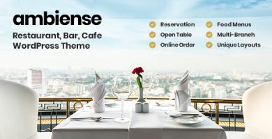 قالب Ambiense - قالب وردپرس رستوران و کافه