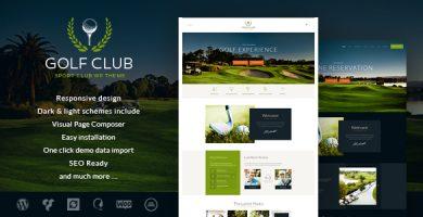 قالب Golf Club - قالب وردپرس ورزشی و رویدادها